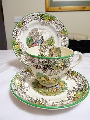 SPODE BYRON CUP SAUCER PLATE TRIO C1950s