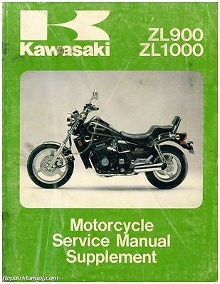 1985-1988 Kawasaki ZL900 ZL1000 Eliminator Motorcycle Service Manual Suppleme...