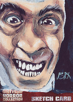 British Horror Collection Sketch Card SK1 By Steven Burch (A)
