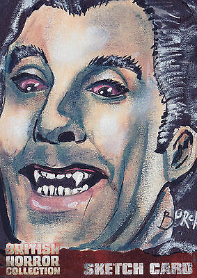 British Horror Collection Sketch Card SK1 By Steven Burch