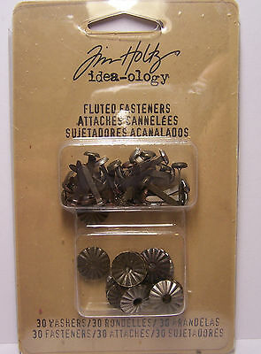 Tim Holtz idea-ology Metal Decorative Fluted Fasteners 30 Washers & 30 Fasteners