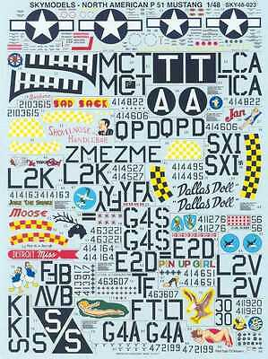 Sky Models Decals 1/48 NORTH AMERICAN P-51 MUSTANG Fighter