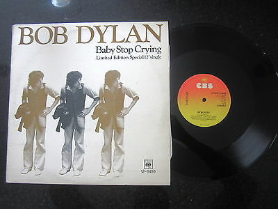 """Bob Dylan """"baby Stop Crying"""" Limited Edition Uk 12"""""""