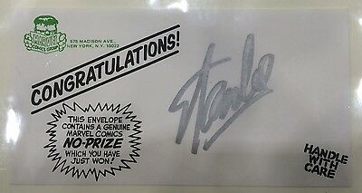 Rare 1960's Marvel No-Prize Envelope SIGNED BY STAN LEE! MarvelMania!