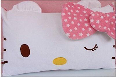 Hello Kitty Face Soft Pillowcase Pink New