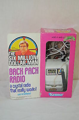 Six Million Dollar Man Crystal Backpack Radio in original box Kenner 1372