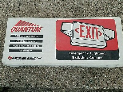 new lithonia lighting quantum exit unit combination emergency
