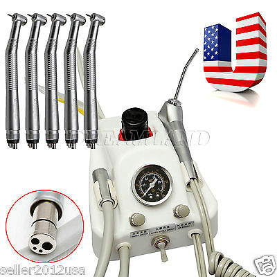 USA! Dental Turbine Unit Work w/ Air Compressor + 5PC High Speed Handpiece 4Hole