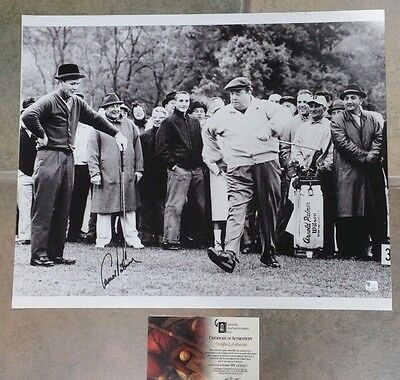 ARNOLD PALMER JACKIE GLEASON AUTOGRAPHED PHOTO - 15 x 20 -  CERTIFIED AUTHENTIC
