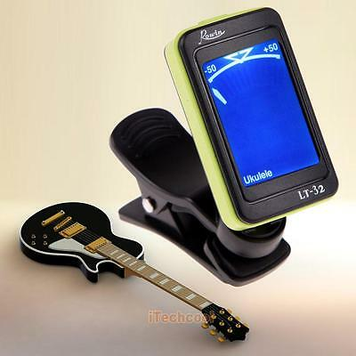 Clip-on Guitar Tuner Fr Electronic Digital Chromatic Bass Violin Ukulele LC