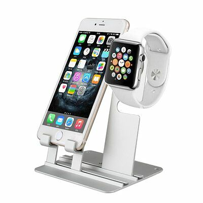 Aluminum Apple Watch Charger Holder Charging Dock Station Stand Fr iWatch iPhone