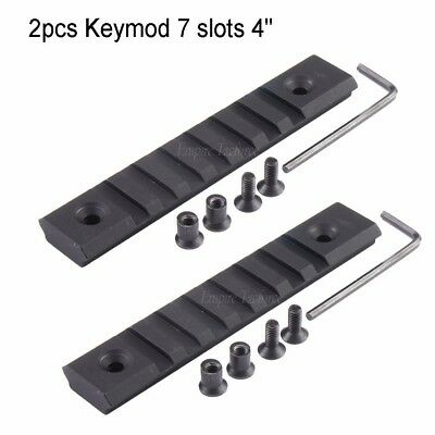 "2 pcs Keymod 7 slots (4"") aluminum picatinny rail Section LightWeight"