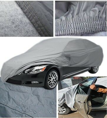 Extra Large XXL Heavy Duty 100% Waterproof Outdoor Full Car Cover Zip Breathable