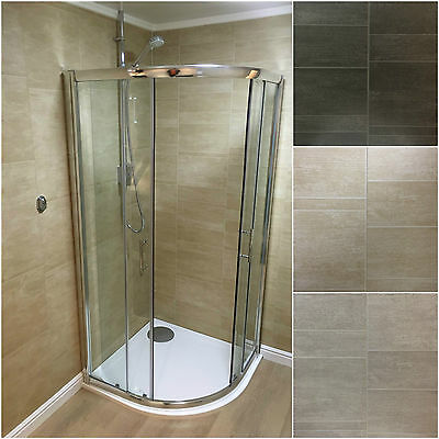 Sandstone, Anthracite & Moonstone  Standard Tile Bathroom Wall Cladding Panels
