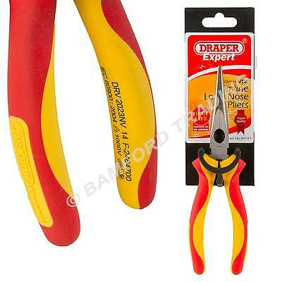 Draper Expert Electricians Long Nose Pliers Fully Insulated VDE Slimline 200mm