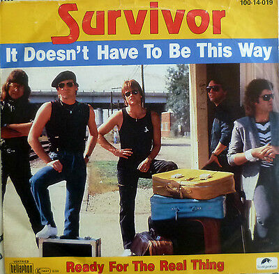"7"" 1985 MINT- ! SURVIVOR It Doesn´t Have To Be This Way"