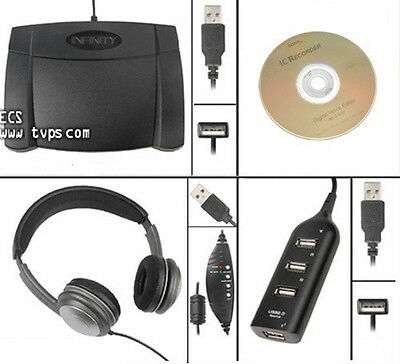 ECS FS-85USB Transcription Software Kit with OHUSB Headset - New