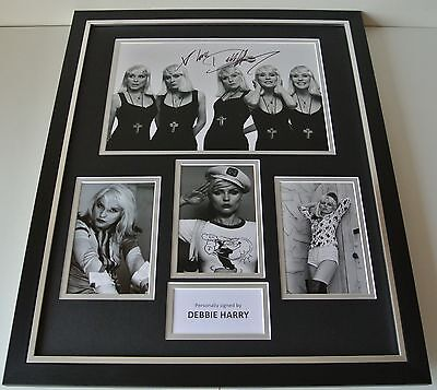 Debbie Harry SIGNED FRAMED Photo Autograph Huge display Blondie Music & COA
