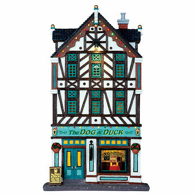 The Dog & Duck Pub Lemax Christmas Village Facades - New For 2016