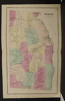 Maine, Androscoggin County Map, 1873 Town of Turner, Double Page O3#49