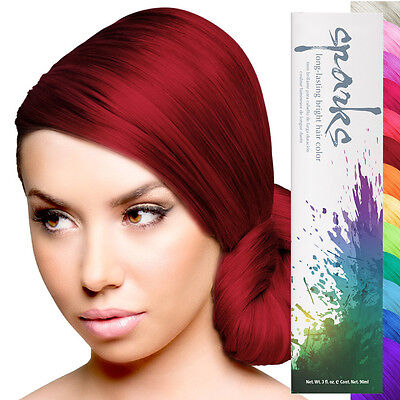 Sparks Professional Hair Color Bright Permanent Dye Long Lasting Vibrant 3oz