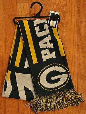 "Green Bay Packers Knit Winter Neck Scarf NEW 65"" TS11 Great Design"