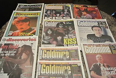 lot of 15 magazines rock  70's &  zappa   , kiss   ++++ record collecting