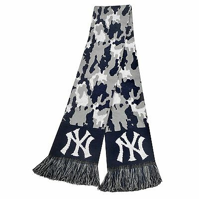 """NEW York Yankees Scarf Knit Winter Neck NEW 65"""" - CAMOUFLAGE Camo - 2013"""
