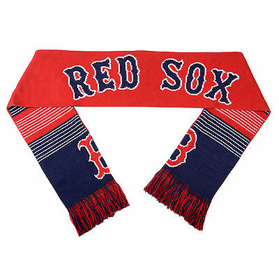 Boston Red Sox Reversible Scarf Knit Winter Neck NEW - Split Logo