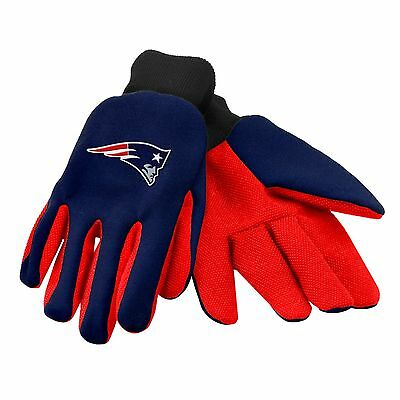 NEW England Patriots Gloves Sports Logo Utility Work Garden NEW Colored Palm