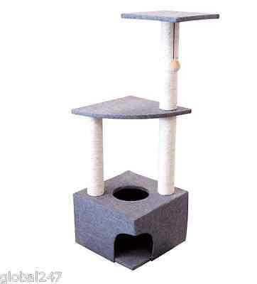 New 3 LEVEL CAT KITTEN PET PLAY HOUSE CENTRE SCRATCHER SCRATCHING POST Xmas