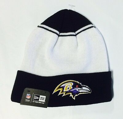 Baltimore Ravens Knit Beanie Winter Hat Toque Skull Cap - NE Cuffed