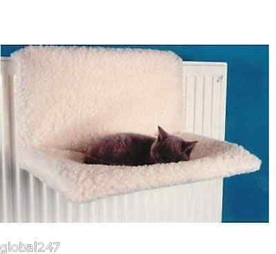 1 New Cat Pet Kitten Radiator Bed Warm Fleece Basket Cradle Beds Hammock