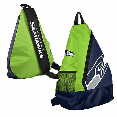 Seattle Seahawks BackPack / Back Pack Book Bag NEW - TEAM COLORS - SLING