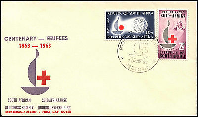 South West Africa 1963 Red Cross Centenary FDC #C36504