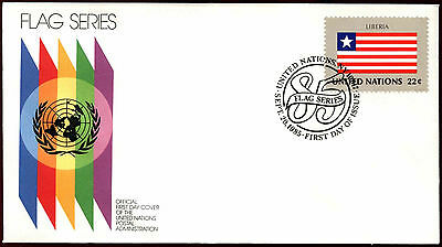 United Nations 1985 Liberia Flag Series FDC First Day Cover #C36015