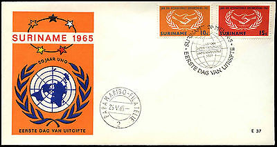 Suriname 1965 Int. Co-Op Year FDC First Day Cover #C35501
