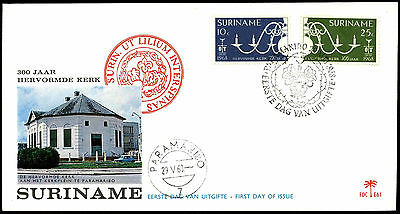 Suriname 1968 Reformed Church FDC First Day Cover #C35518