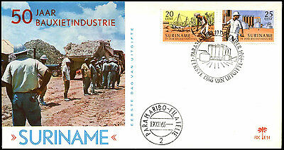 Suriname 1966, Bauxite Industry FDC First Day Cover #C35510
