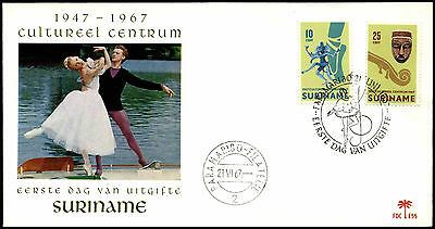 Suriname 1967 Cultural Centre, Ballet FDC First Day Cover #C35515