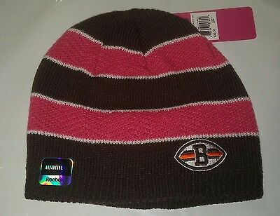Cleveland Browns Reebok Knit Beanie Winter Hat Toque Skull Cap - New Pink BCA