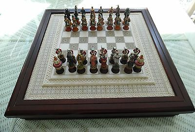 Franklin Mint 1988 Raj Chess Set & Board Has  Minor Issue Price Reduced