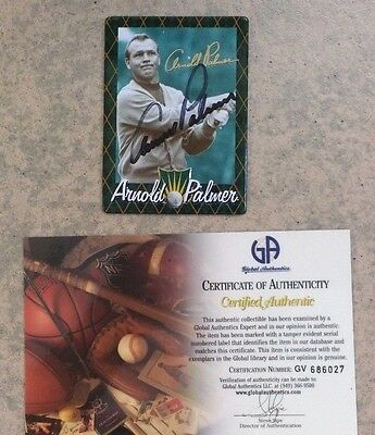 Arnold Palmer Autographed Golf Card - Metallic Metal - 100% Certified Authentic