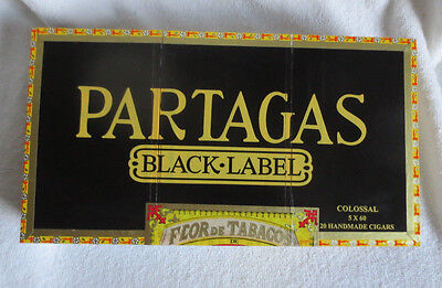 Partagas Black Label Colossal Paper Covered Wood Cigar Box - Nice!