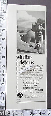 1932 Ad Couriercar Indian Detours New Mexico Rockies Escorted by Courier