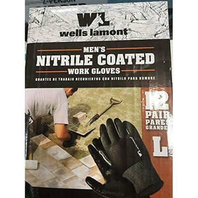 Wells Lamont Nitrile Coated Work Gloves 12 Pairs Large New
