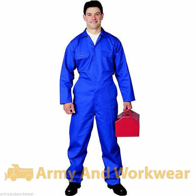 Adults Pro Coverall Overall Boiler Suit Tuff Workwear Boilersuit Mens Mechanic