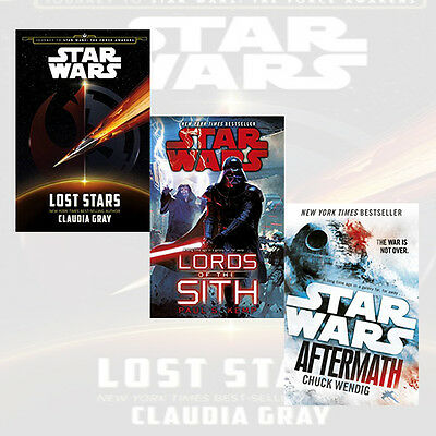 Star Wars Collection 3 Books Set Force Awakens,Lords of the Sith,Aftermath,New