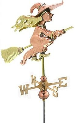 Good Directions Witch Garden Weathervane - Polished Copper with Garden Pole NEW