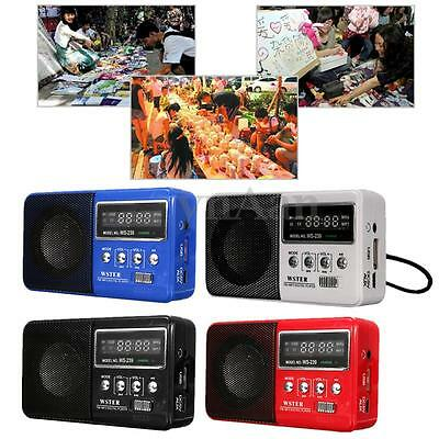 Portable Digital LED Stereo FM Radio Speaker Receiver MP3 Music Player TF Card